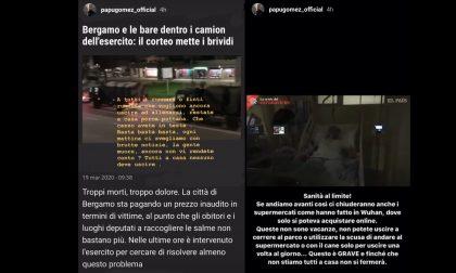 Il Papu Gomez sbotta sui social: «La gente muore, ancora non vi rendete conto? Tutti a casa!»