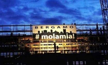 Bergamo «Mola mia». L'invito a resistere