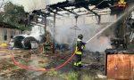 In fiamme un magazzino a Suisio, fortunatamente non ci sono feriti