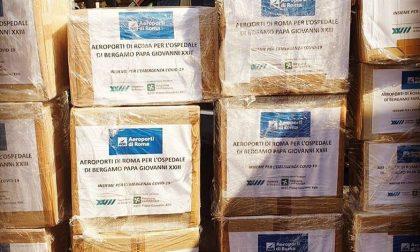 Dagli aeroporti di Roma un carico di materiale sanitario per gli ospedali bergamaschi