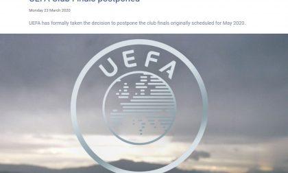 Adesso è ufficiale: la Uefa rinvia le finali di Europa League e Champions a data da destinarsi
