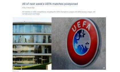 La Uefa e l'illuminazione sulla via di Nyon: stop a Champions ed Europa League