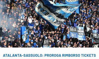 Atalanta-Sassuolo, ufficiale la proroga per il rimborso dei biglietti ai tifosi