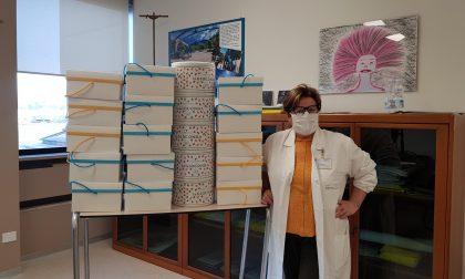 Dolce sorpresa per gli operatori sanitari della Bassa: colombe Da Vittorio