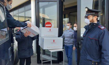 I carabinieri di Treviglio consegnano farmaci all'ospedale di Alzano e a Brignano