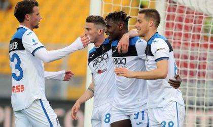 Grandinata a Lecce, l'Atalanta vince 7-2 al Via del Mare. E vola a settanta gol