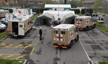 Il grande ospedale da campo dell'Ana alla Fiera di Bergamo. Tra una settimana 350 posti letto tutti dotati di ossigeno