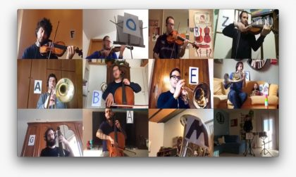 I Fantacherubini suonano l'inno della Champions per aiutare Bergamo