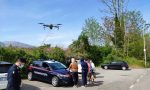 Una decina di persone a Valbrembo e Paladina multate dai Carabinieri grazie al drone