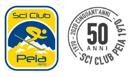 Lo Sci Club Peia brinda per i suoi 50 anni. Il regalo? Gel disinfettante per tutte le famiglie