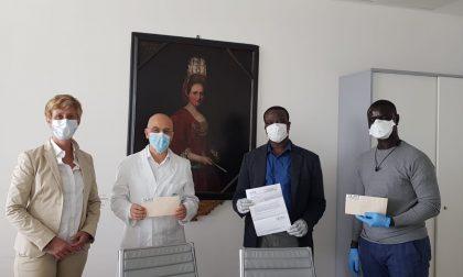 Dall'Associazione Senegalesi e Bergamaschi di Ciserano-Zingonia cinquemila euro al Papa Giovanni