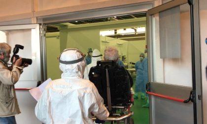 Sono arrivati i primi quattro pazienti al nuovo ospedale degli Alpini in Fiera