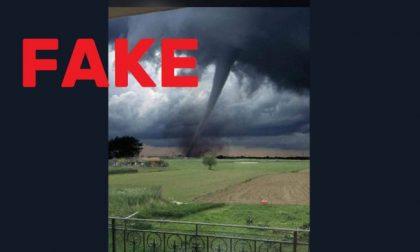 «Tromba d'aria a Pognano», ma è l'Oklahoma. E il fotomontaggio diventa virale