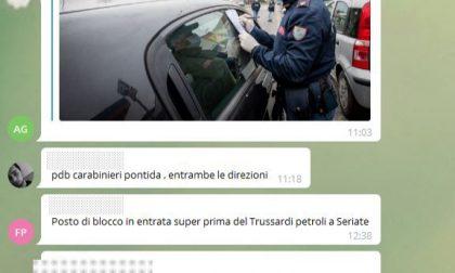 Usavano una chat di Telegram per aggirare i posti di blocco, 12 perquisizioni a casa