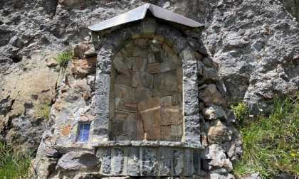 Sparita la Madonna che si trova proprio sotto il rifugio Benigni. È la seconda volta