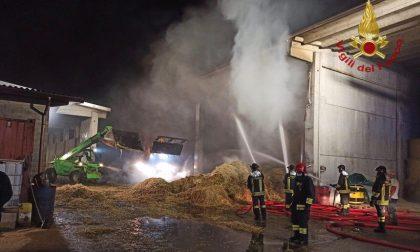 Incendi domati in una cascina ad Arcene e alla Tenaris Dalmine