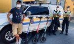 A Gorle la polizia e la protezione civile viaggiano sui monopattini elettrici