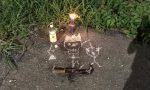 L'inquietante giallo delle messe nere a Mozzo, tra disegni di teschi, falci e candele