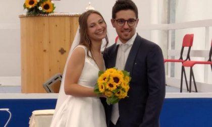 Letizia e Mattia, a Torre Boldone il primo matrimonio del 2020 (finalmente!)