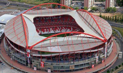 Champions League a Lisbona, la Dea giocherà allo Stadio Da Luz (la casa del Benfica)