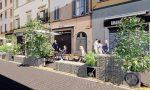 Dehors estesi in Borgo Santa Caterina: sistemati sulla corsia dei bus
