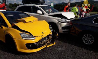 Maxi incidente sulla A4, tra Seriate e Grumello: cinque auto coinvolte, sedici feriti e ben 8 km di coda