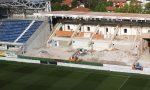 Gewiss Stadium, la Tribuna Ubi è… sparita: l'immagine del cantiere senza i gradoni
