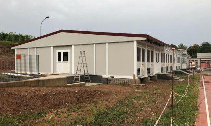 Villa d'Almè, proseguono i lavori alla scuola modulare
