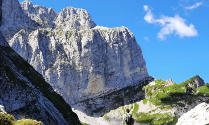 Bloccati sullo spigolo nord della Presolana: tre scalatori in salvo