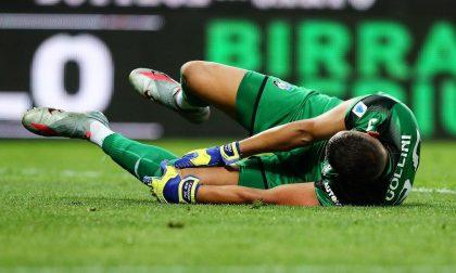 Tegola Gollini: lesione subtotale del crociato posteriore, a Lisbona gioca Sportiello