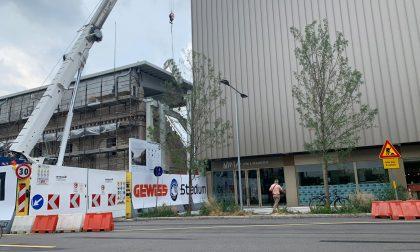 Gewiss Stadium, in posa il raccordo tra la Tribuna Rinascimento e la Curva Nord