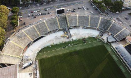 Avanti con i lavori al Gewiss Stadium: cambia look anche la Curva Morosini