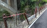 Con un furgone sulla ciclabile ai Ponti di Sedrina: divelte le reti di protezione