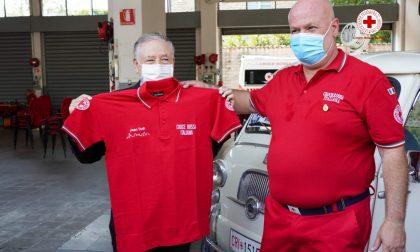 Jean Todt alla Croce Rossa di Bergamo per ringraziarla dell'impegno contro il Covid