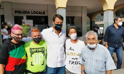 Il tour di Salvini a Cene, Sorisole e Almè. Con una promessa: «Tornerò da premier»