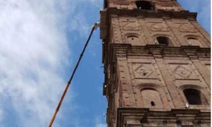 A Caravaggio gli animalisti si oppongono al sistema che difende il campanile dai piccioni