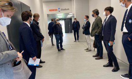 "Sopralluogo Uefa al Gewiss Stadium, i cinque ""ispettori"" concluderanno oggi le loro verifiche"