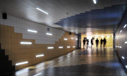 Apertura del sottopasso della stazione: flussi separati e (al mattino) a senso unico
