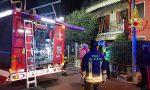 Anziana bloccata in casa dalle fiamme a Seriate, salvata dai vigili del fuoco