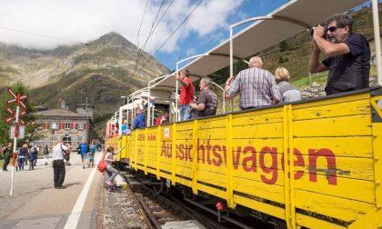 Primo treno turistico d'Italia con carrozze scoperte da Bergamo al Lago d'Iseo
