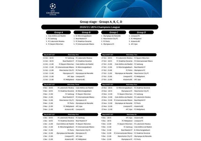 Partite Champions Calendario 2021 Champions League, ecco il calendario: si parte dalla Danimarca, si