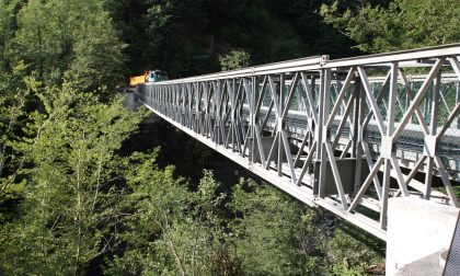"""A Taleggio arriva un nuovo viadotto al posto del ponte """"bailey"""". Pronto entro il 2021"""