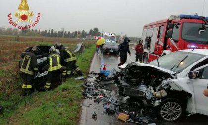 Brutto incidente tra Martinengo e Ghisalba, feriti un ragazzo e una ragazza di 29 e 32 anni