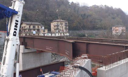 Al via la posa del nuovo ponte sul Brembo, il sindaco Milesi: «Sogno che diventa realtà»