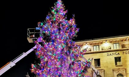 A Bergamo un albero multicolore come a New York (e solidarietà per i più piccoli)