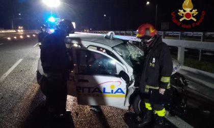 Schianto all'alba sulla BreBeMi: gravemente ferite due guardie giurate