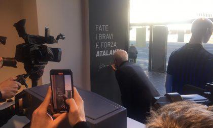 Video e foto dell'inaugurazione del nuovo Atalanta Store. Con un Percassi in grande spolvero