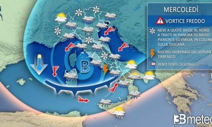 L'inverno sta arrivando: da mercoledì rischio neve in Bergamasca (fino alla Bassa)