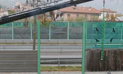 Circonvallazione a Valtesse, sostituzione delle barriere antirumore in corso