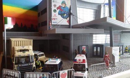 """Presepe dedicato agli """"Angeli di Bergamo"""": quelli dell'ospedale allestito alla Fiera"""
